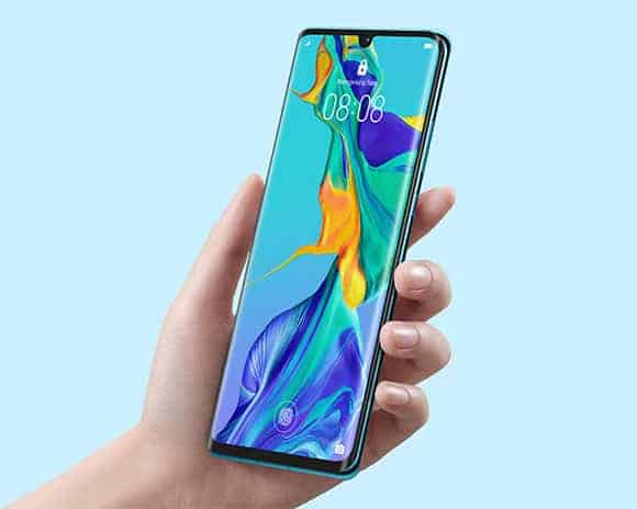 Huawei P30 Pro Aurora Color Front View