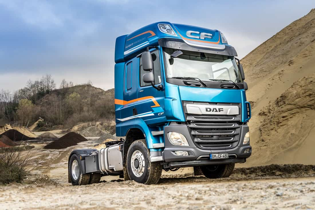 DAF CF and XF available with switchable front wheel drive
