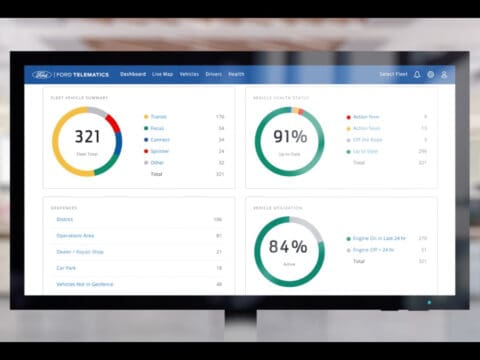 Ford Telematics fleet health dashboard